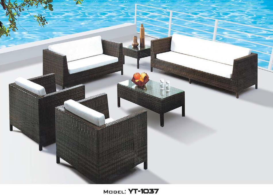 独自商品です! リゾート・ガーデン・エクステリア家具・ソファ6点セット(屋外用)YT-1037E