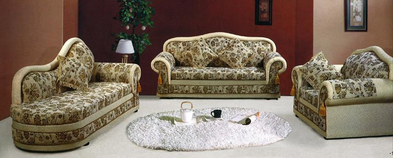 花柄布製ソファー3点セット