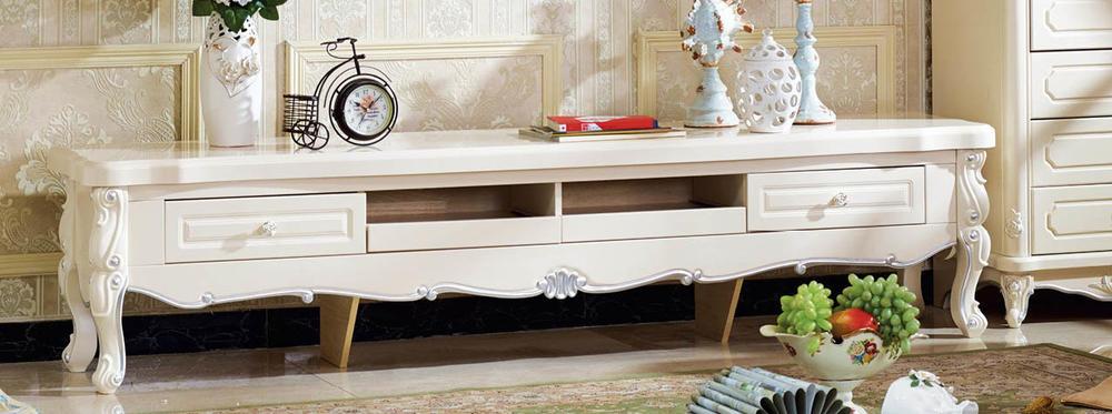 ロココ調木製TVボード(長さ:2200mm)