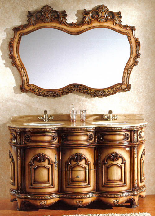 クラシック調洗面化粧台・洗面台(幅:1520mm)