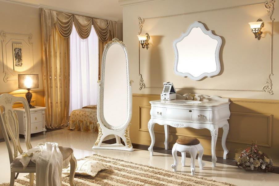 クラシック調洗面化粧台(鏡付)(幅:1106mm)