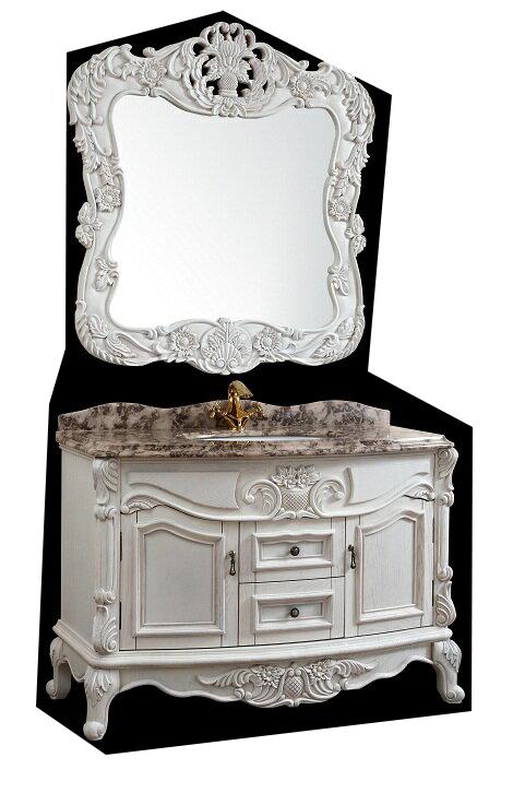 クラシック調洗面化粧台(鏡付)(幅:1240mm)