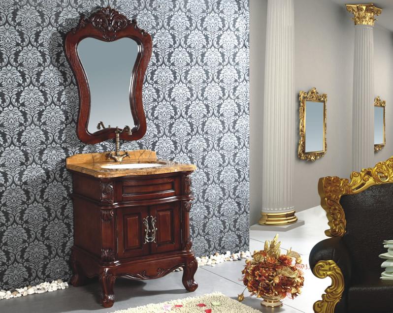 ロココ家具調・高級洗面化粧台(幅:680mm)