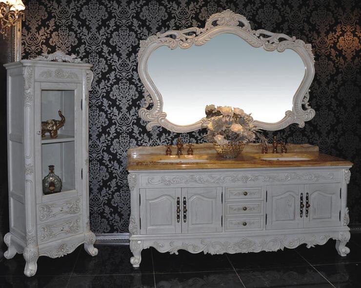 ロココ家具調・高級洗面化粧台(幅:1800mm)