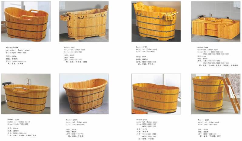 独自商品です! 木風呂・天然木製浴槽(木製バスタブ、木の風呂、木の浴槽)