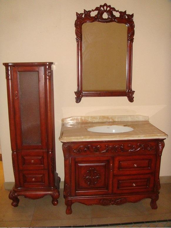 クラシック調洗面化粧台(鏡付)(幅:1050mm)