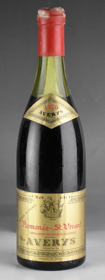 【希少!!】 [1970] エイヴァリーズ・オブ・ブリストル ブルゴーニュ ロマネ・サンヴィヴァン ※キャップシール腐食フランス// ブルゴーニュ [1970]/ 赤ワイン, ナダサキチョウ:dc3a4401 --- clftranspo.dominiotemporario.com
