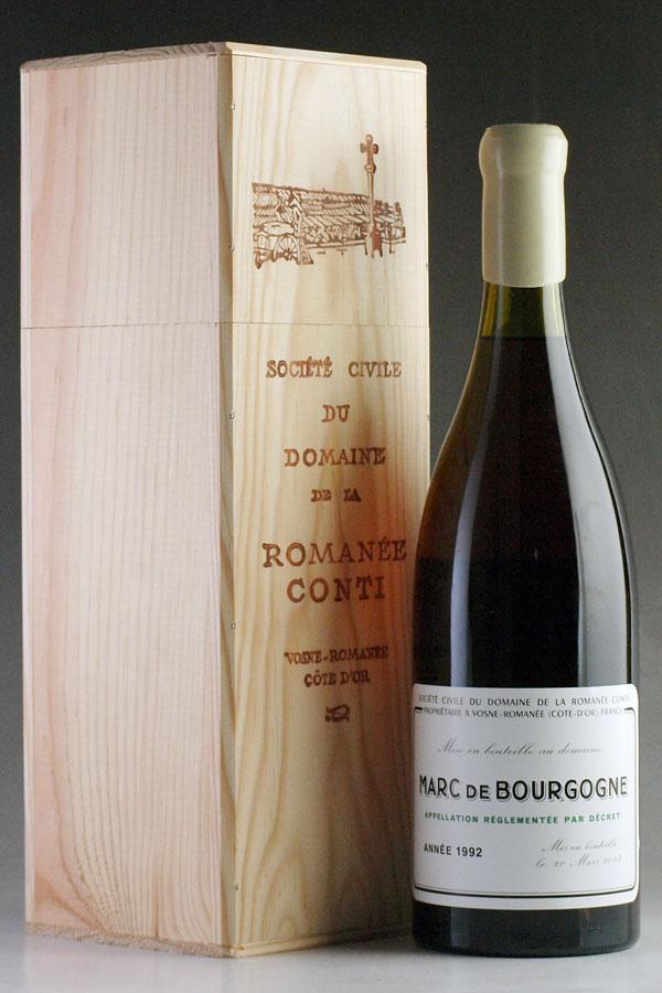 [1992] マール・ド・ブルゴーニュ 700ml 【自社輸入】ドメーヌ・ド・ラ・ロマネ・コンティ【DRC】Domaine de la Romanee-Conti Marc de Bourgogneフランス / ブランデー
