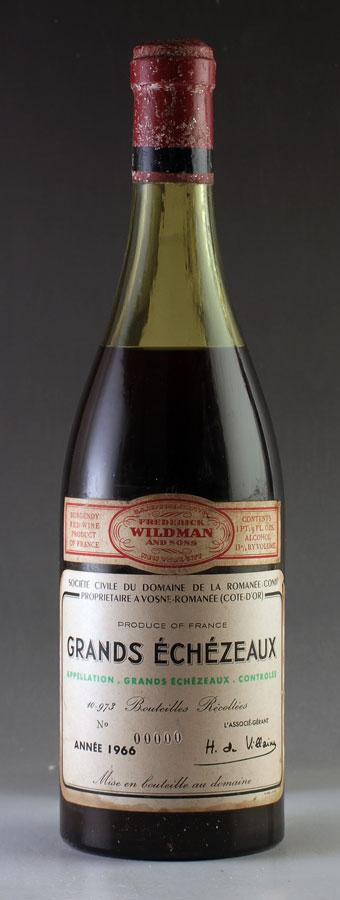 [1966] グラン・エシェゾー Grands Echezeaux ドメーヌ・ド・ラ・ロマネ・コンティ DRCフランス / ブルゴーニュ / 赤ワイン