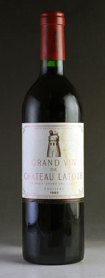 【送料無料】 [1983] シャトー・ラトゥールラべル汚れフランス / ボルドー / 赤ワイン
