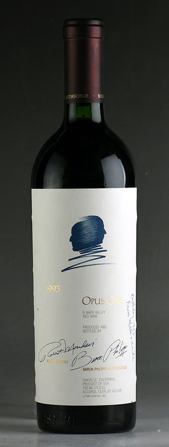 [1993] オーパス・ワン【オーパスワン】 ※ラベルにペン記入ありアメリカ / カリフォルニア / 赤ワイン[outlet][のこり1本]