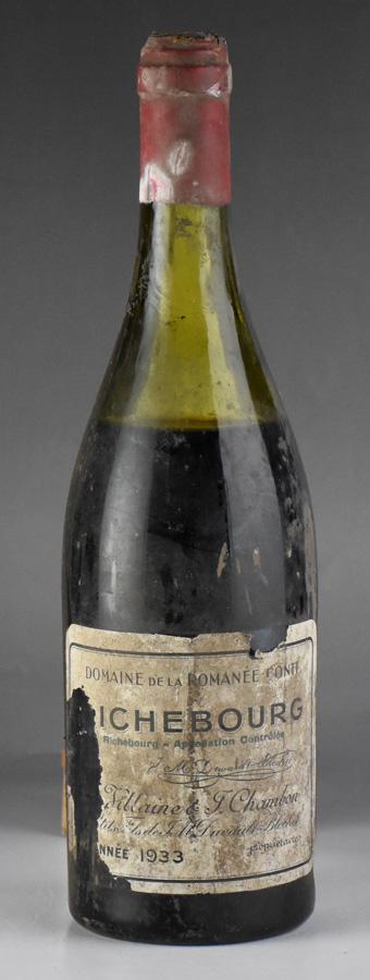 【送料無料】 [1933] ドメーヌ・ド・ラ・ロマネ・コンティ DRC リシュブール ※ラベル破れフランス / ブルゴーニュ / 赤ワイン