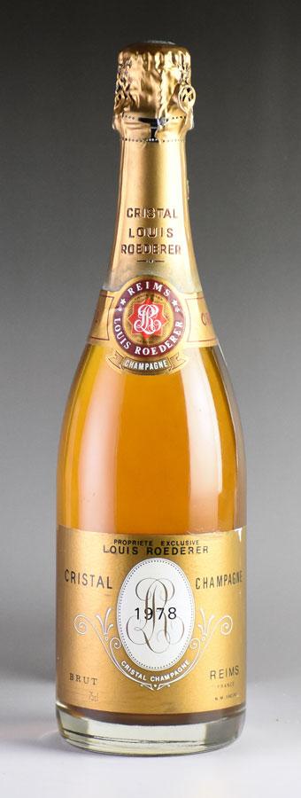 [1978] ルイ・ロデレール クリスタルフランス / シャンパーニュ / 発泡・シャンパン[のこり1本]