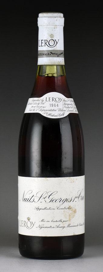 [1964] メゾン・ルロワ ニュイ・サン・ジョルジュ プルミエ・クリュ ※ラベル汚れフランス / ブルゴーニュ / 赤ワイン