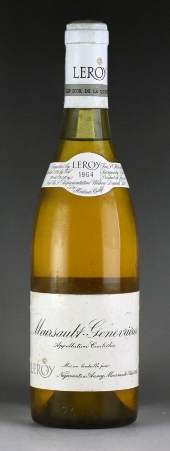 1964 メゾン・ルロワ ムルソー・ジュヌヴリエール ※ラベル汚れフランス / ブルゴーニュ / 白ワイン