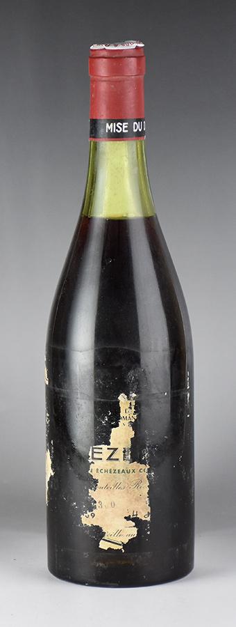 [1969] ドメーヌ・ド・ラ・ロマネ・コンティ DRC エシェゾー ※ラベル損壊フランス / ブルゴーニュ / 赤ワイン[のこり1本]