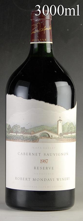 [1987] ロバート・モンダヴィ カベルネ・ソーヴィニヨン・リザーヴ ダブルマグナム 3000mlアメリカ / カリフォルニア / 赤ワイン