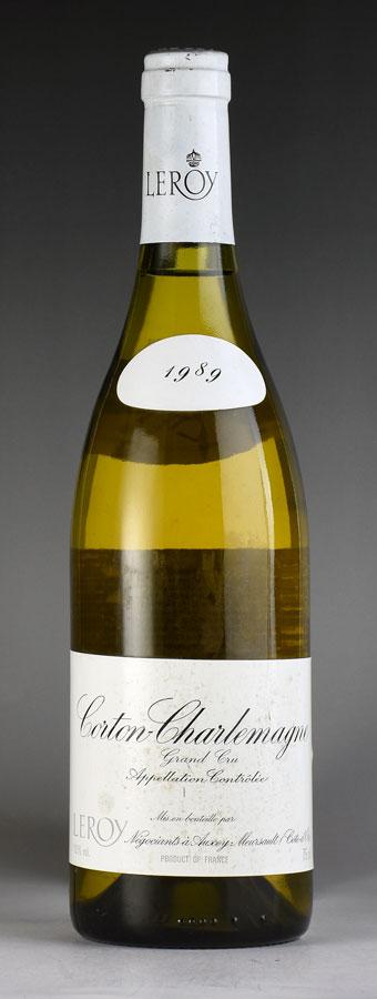 [1989] メゾン・ルロワ コルトン・シャルルマーニュ ※ラベル汚れありフランス / ブルゴーニュ / 白ワイン