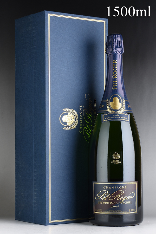 [2006] ポル・ロジェ キュヴェ・サー・ウィンストン・チャーチル マグナム 1500ml 【ギフト箱】 【正規品】フランス / シャンパーニュ / 発泡・シャンパン