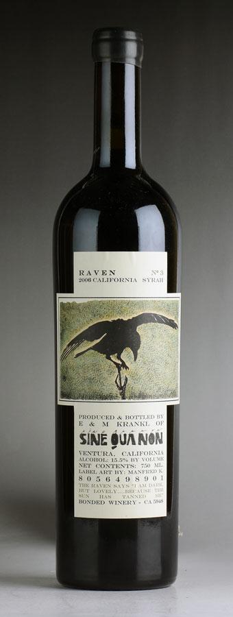 シン・クア・ノン カリフォルニア [2006] No.3 / / レイヴン シリーズ 赤ワイン シラーアメリカ