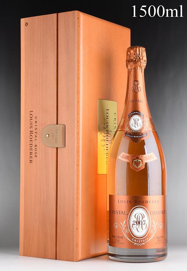 [2007] ルイ・ロデレール クリスタル ロゼ マグナム 1500ml 【木箱入り】フランス / シャンパーニュ / 発泡・シャンパン