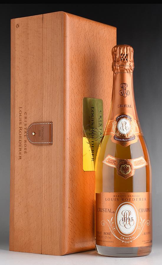 [1995] ルイ・ロデレール クリスタル ロゼ 【木箱入り】フランス / シャンパーニュ / 発泡・シャンパン