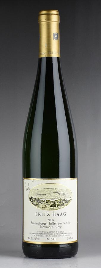 [2007] フリッツ・ハーグ ブラウネベルガー ユッファー ゾンネンウーア リースリング・アウスレーゼ ゴールドカプセル #09 ※ラベル擦れ・汚れありドイツ / 白ワイン /[outlet]