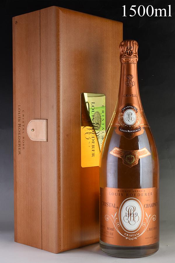 [1999] ルイ・ロデレール クリスタル ロゼ マグナム 1500ml 【木箱入り】フランス / シャンパーニュ / 発泡・シャンパン