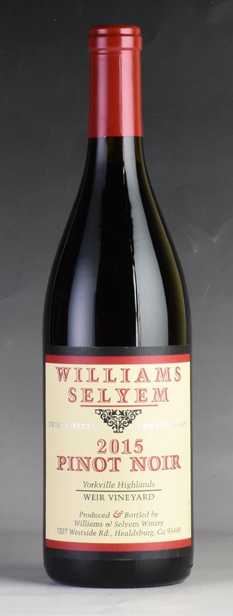 [2015] ウィリアムズ・セリエム ウィアー・ヴィンヤード ピノ・ノワール 【ワイナリー蔵出し】アメリカ / カリフォルニア / 赤ワイン
