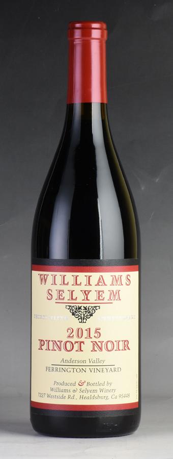 [2015] ウィリアムズ・セリエム フェリントン・ヴィンヤード ピノ・ノワール 【ワイナリー蔵出し】アメリカ / カリフォルニア / 赤ワイン