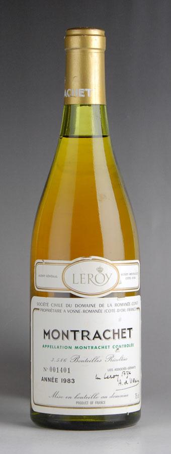 [1983] ドメーヌ・ド・ラ・ロマネ・コンティ DRC モンラッシェ ※ラベル傷ありフランス / ブルゴーニュ / 白ワイン