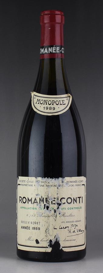 [1989] ドメーヌ・ド・ラ・ロマネ・コンティ DRC ロマネコンティ ※ラベル破損フランス / ブルゴーニュ / 赤ワイン