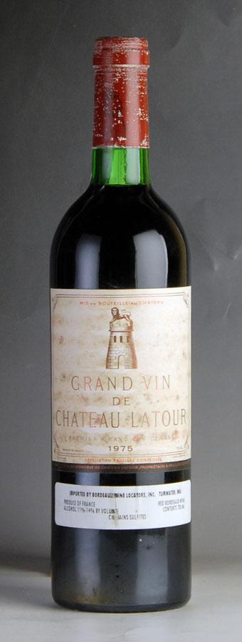 [1975] シャトー・ラトゥール ※ラベル汚れ・傷、コルク沈み、キャップシール腐食フランス / ボルドー / 赤ワイン