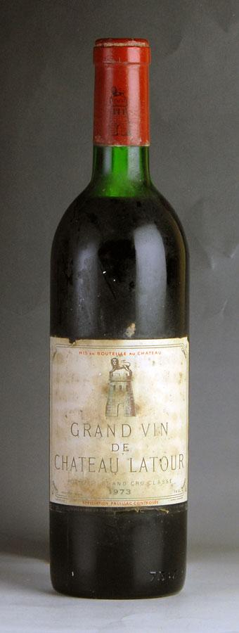 [1973] シャトー・ラトゥール ※ラベル変色・汚れ、コルク沈みフランス / ボルドー / 赤ワイン