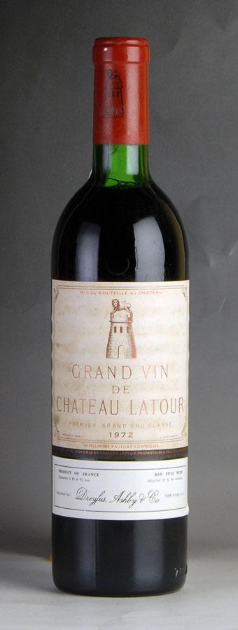 [1972] シャトー・ラトゥール ※ラベル汚れフランス / ボルドー / 赤ワイン