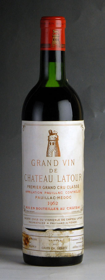 【送料無料】 [1962] シャトー・ラトゥールフランス / ボルドー / 赤ワイン