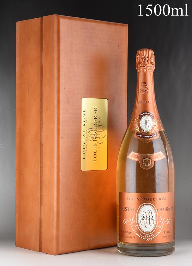 [2002] ルイ・ロデレール クリスタル ロゼ マグナム 1500ml 【木箱入り】フランス / シャンパーニュ / 発泡系・シャンパン
