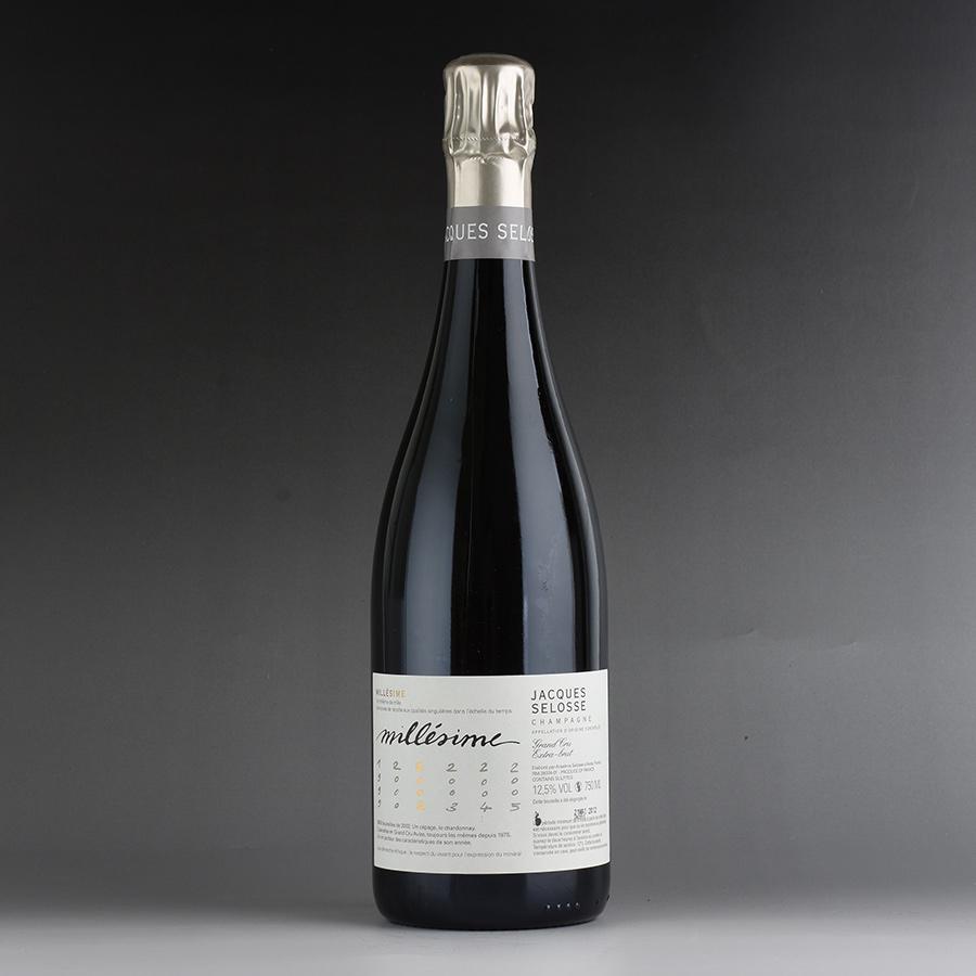 [2002] ジャック・セロス ミレジム ※ラベル汚れフランス / シャンパーニュ / 発泡系・シャンパン