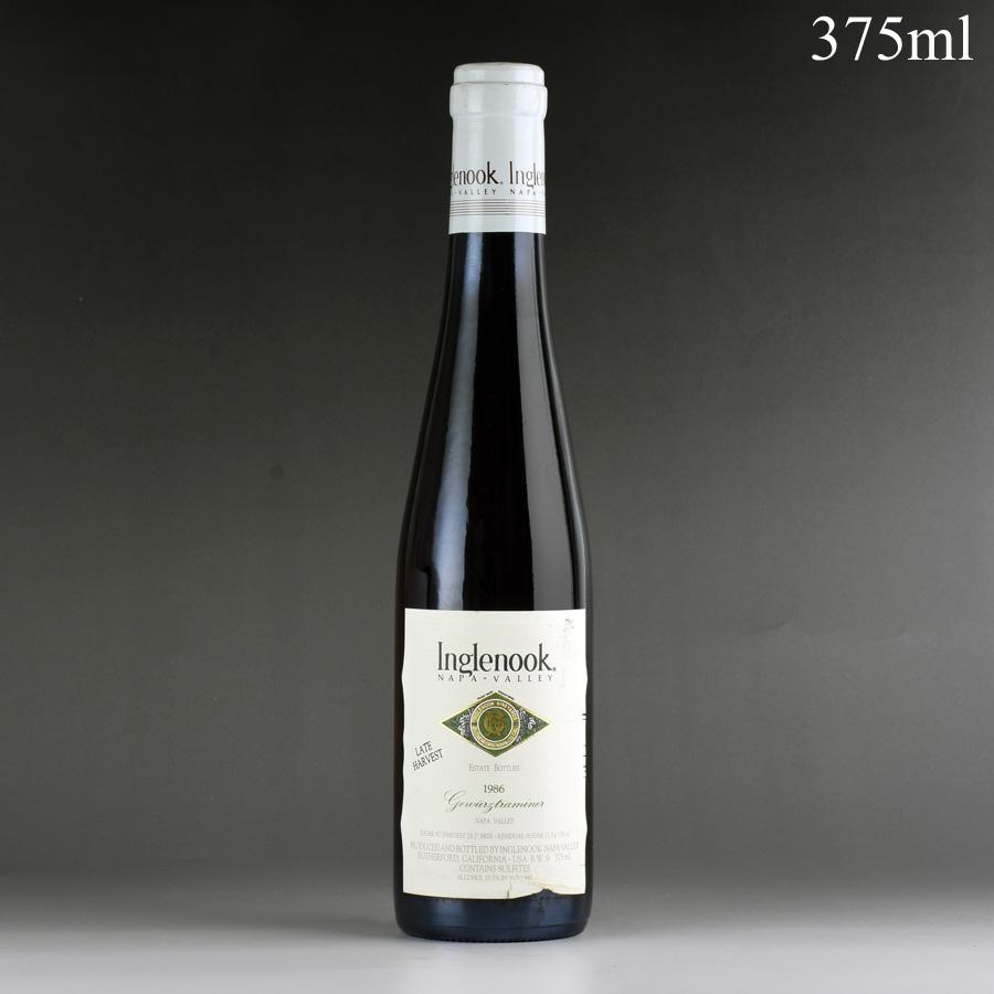 [1986] イングルヌック レイトハーヴェスト・ゲヴェルツトラミネール 375ml ※ラベル汚れ、しわありアメリカ / カリフォルニア / 赤ワイン