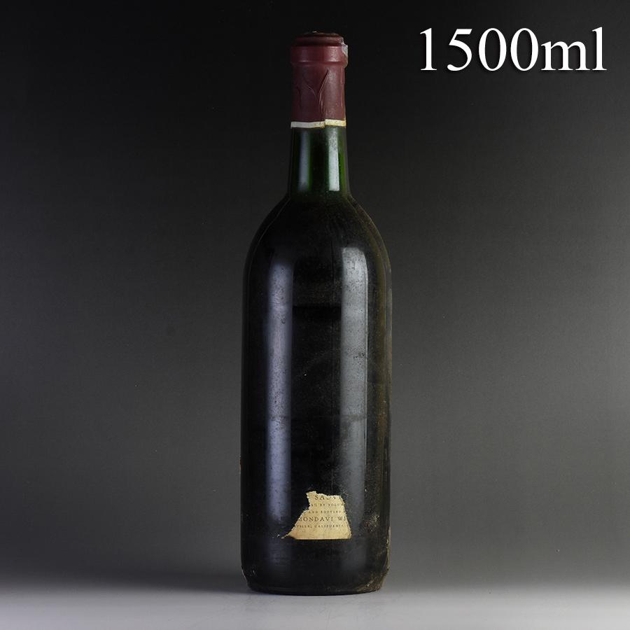 [1972] ロバート・モンダヴィ カベルネ・ソーヴィニヨン マグナム 1500ml ※ラベルなし、キャップシール腐食アメリカ / カリフォルニア / 赤ワイン