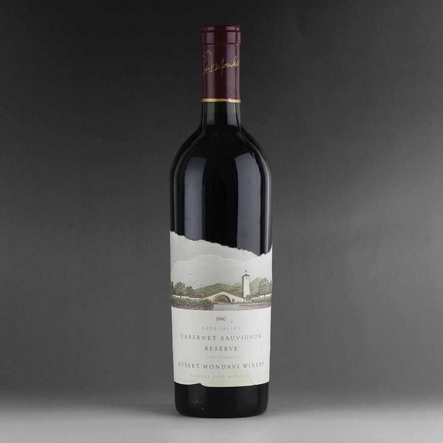 [1990] ロバート・モンダヴィ カベルネ・ソーヴィニヨン リザーヴ ※ラベルしわアメリカ / カリフォルニア / 赤ワイン