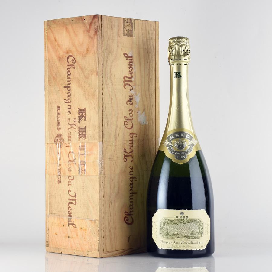 [1989] クリュッグ クロ・デュ・メニル 【木箱付】フランス / シャンパーニュ / 発泡・シャンパン[のこり1本]