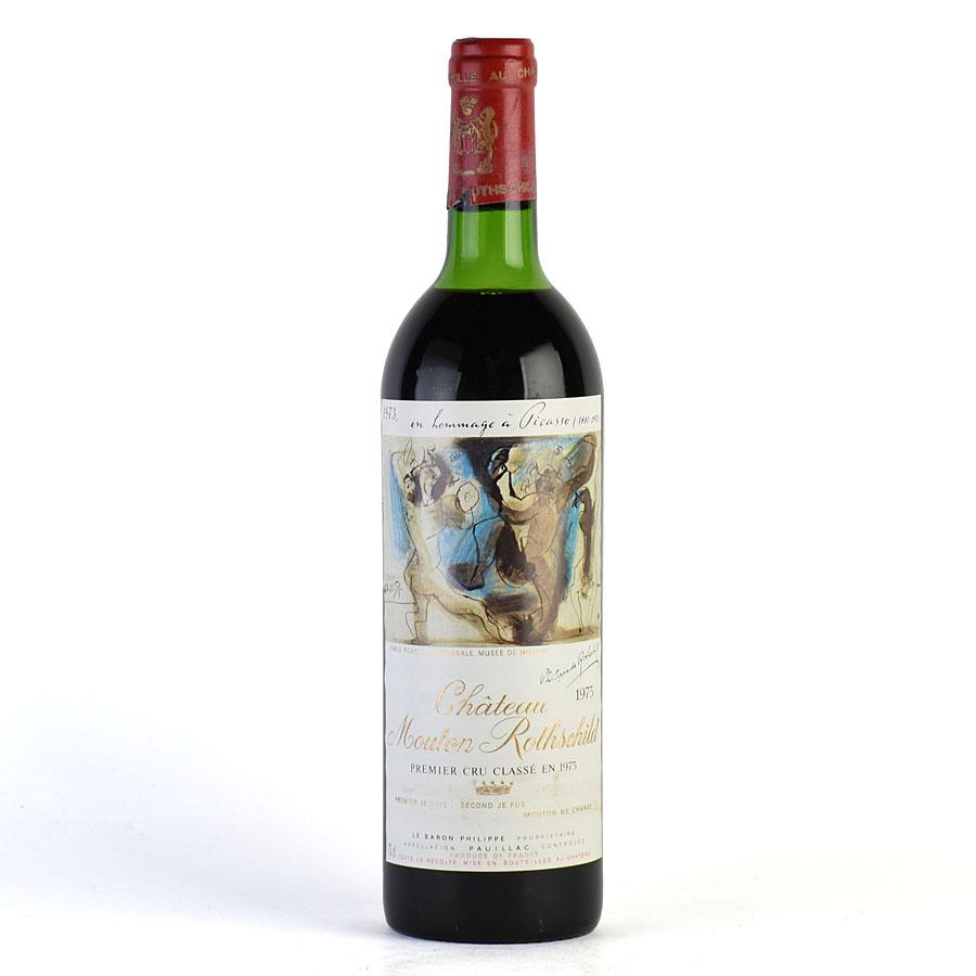 [1973] シャトー・ムートン・ロートシルト ※ラベル汚れありフランス / ボルドー / 赤ワイン