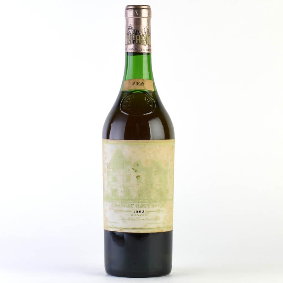 [1983] シャトー・オー・ブリオン・ブラン※ラベル不良、液面低めフランス / ボルドー / 白ワイン[outlet][のこり1本]