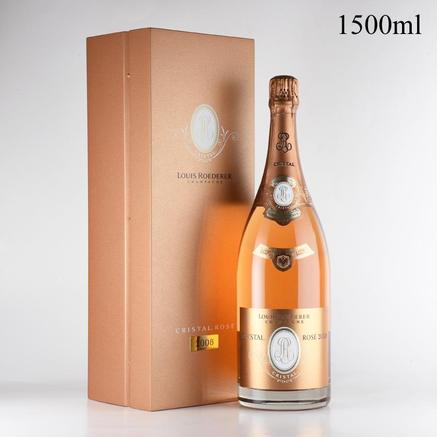 [2008] ルイ・ロデレール クリスタル ロゼ マグナム 1500ml 【正規品】【木箱入り】フランス / シャンパーニュ / 発泡系・シャンパン