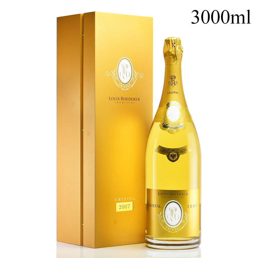 [2007] ルイ・ロデレールクリスタル ジェロボアム 3000ml 【木箱入り】フランス / シャンパーニュ / 発泡系・シャンパン[のこり1本]