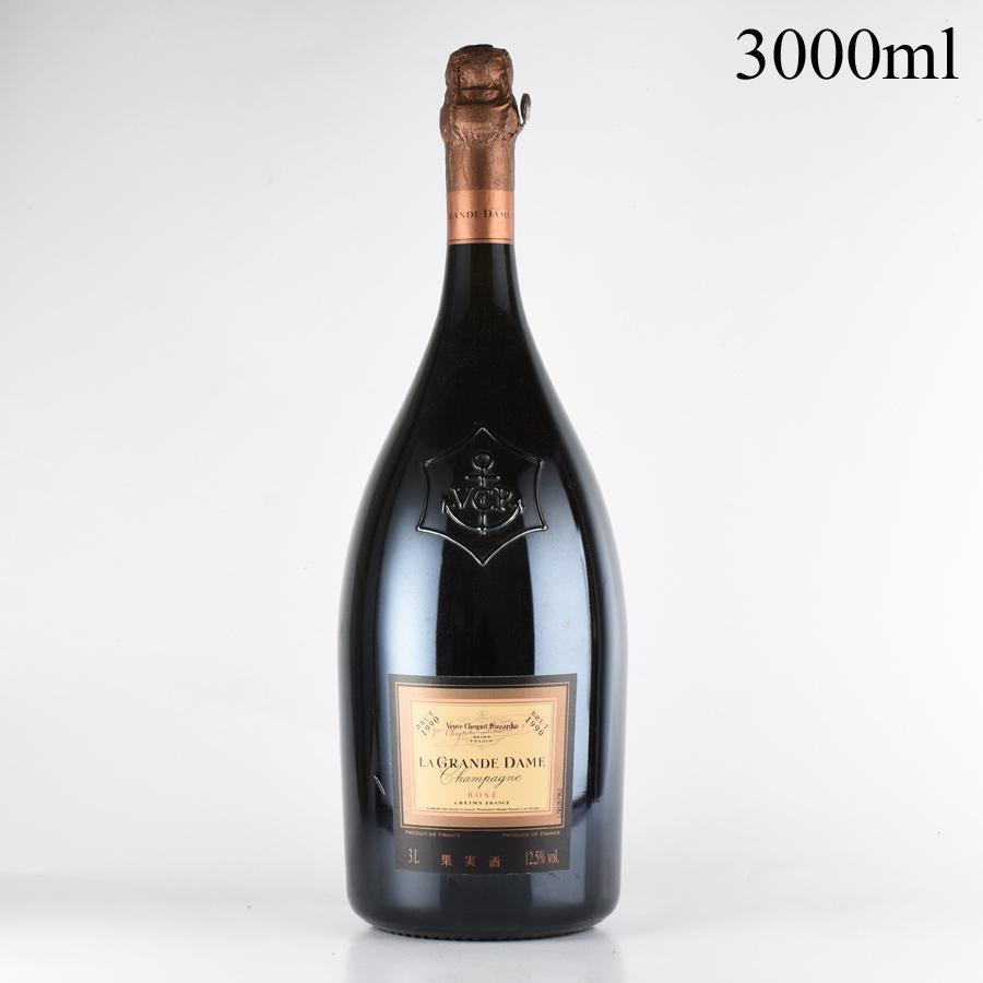 [1990] ヴーヴ・クリコ ラ・グランダム・ロゼ 3000mlフランス / シャンパーニュ / 発泡系・シャンパン[のこり1本]