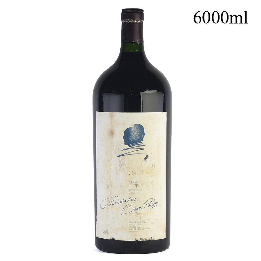 [1992] オーパス・ワン【オーパスワン】 6000ml ※ラベル不良アメリカ / カリフォルニア / 赤ワイン[outlet][のこり1本]