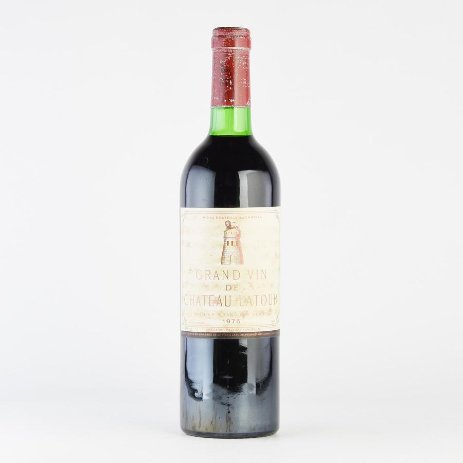 [1975] シャトー・ラトゥール ※ラベル汚れ・傷、コルク沈み、キャップシール腐食フランス / ボルドー / 赤ワイン[のこり1本]