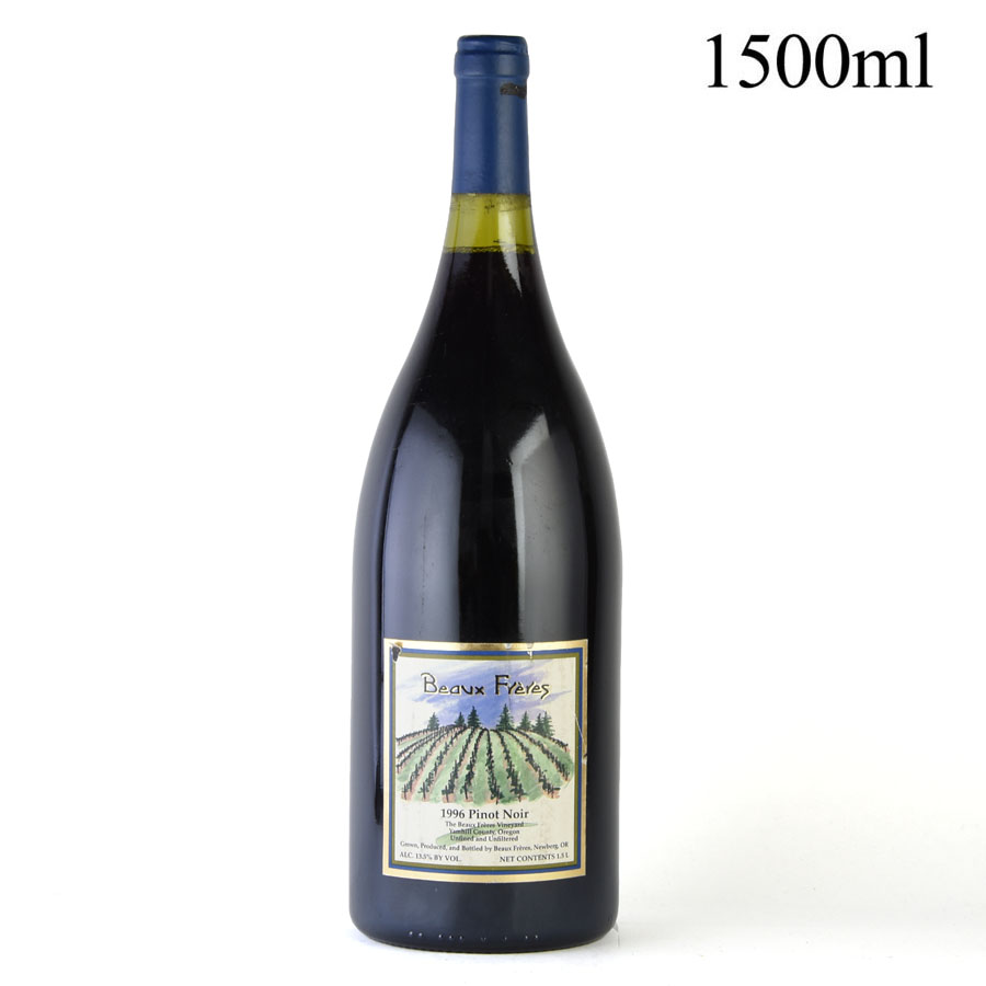[1996] ボー・フレール ピノ・ノワール ボー・フレール・ヴィンヤード マグナム 1500ml ※ラベル破れ、液漏れ跡ありアメリカ / オレゴン / 赤ワイン[outlet][のこり1本]